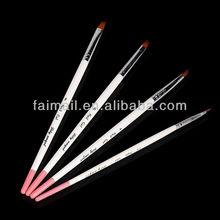 Professional nail pen for uv gel brush in good hair brush