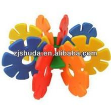 Snowflake building blocks Plastic Children Educational Toys, Snow flowers Building Block kids 3D Puzzles