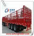 11-13m tri- eixo de gado/dos transportes de animais caminhão semi reboque do cavalo para a venda( tamanho& eixo opcional)