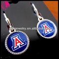 universidade do arizona u de uma wildcats logo o encanto de prata brincos jóias finas presente