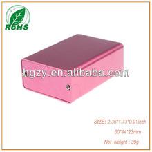 High Quality extruded aluminum enclosure boxes XDM05-23 60*44*23mm