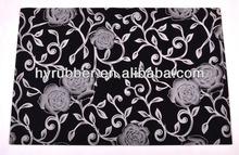 Rubber Backing Flocked Fabric Door Mat,Floor Mat