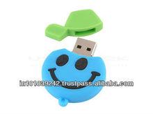2 Gb to 32 GB soft pvc usb pendrive