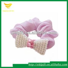 Popular tie dye elastic hair ties with pearl decoration