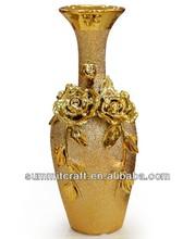 Ceramic electroplate vase martini