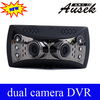 Popular 230 Degree Lens 5M Pixel 1920x540p Dual Camera Dvr Car