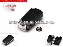 remote modified flip key shell for Opel flip remote key shell 2 button auto key shell