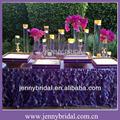 ts055b venda quente popular de orquídeas e violeta casamento organza toalha de mesa saia