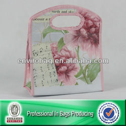 Kawaii Velcro Opening/Wide Soft Handle Cooler PP Lunch Insulated Bag/Delicate Nonwoven Fabric