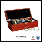 Single Bottle Shenzhen Old Wooden Wine Boxes for Sale Carrier Crate Case For 750ml Wine(SGS&BV)