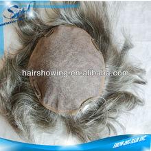 Durable mono base 100% human hair toupee for men