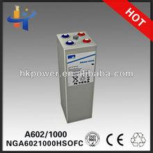 2v 1000ah 2 volt deep cycle solar batteries sonnenschein A602/1250 2v forklift battery NGA6021250HSOFC 10 OPzV 1000'