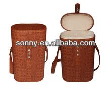 Professional Manufacturing Brown Crocodile PU Custom Gift Bag