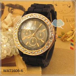 Fashion Color Geneva Silicone Jelly Sport Girl/Women/Lady/Boy Quartz Wrist Watch