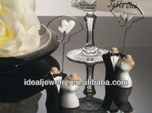 Joined Bride and Groom Design Place Card Holders wedding table ornament