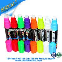 Highlighter Fluorescent Liquid Chalk Marker Pen For LED Writing Board on Sale