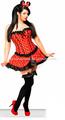 grossista novo sexy vermelho polka dot lingerie cosplay e sexo terno muito barato sexy lingerie muito quente lingeri