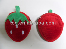 4inch Plush Strawberries Pouch