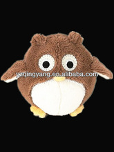 High quality cute and lovely soft toy stuffed plush owl with big eyes toys for kid