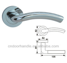Most popular euro profile zinc alloy rosette custom door handle