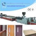 ligne de production de panneaux de porte en bois-plastique PVC / la machine de fabrication de panneaux de porte en bois-plastique PVC