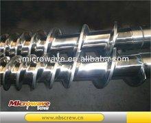 Conical screw barrel for PVC compounding/pelletizing