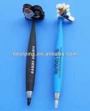 blSaudi Arabia couple rubber plastic magnetic pen, current mould print ball-point pen-(BT-pvc magnet penAL-29)