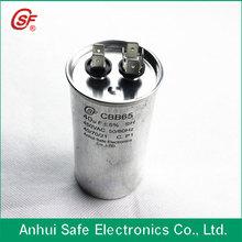 metallized film ac dual capacitor cbb65
