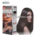 Profesional no- tóxico& bajo irritante& buen olor de tinte para cabello& cubierta y el cabello gris prodcut& no alérgica color de pelo