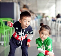 HOT SALE high quality Casual long sleeve with national flag pattern children suit wholesale available