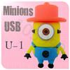 Hot sale,Despicable Me 2 Minions 3D Cartoon USB cartoon characters bulk 256MB 4GB 8GB 16GB 32GB 64GB usb flash drives