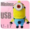 Hot sale U-17 Despicable Me 2 Minions 3D Cartoon USB cartoon characters bulk 256MB 4GB 8GB 16GB 32GB 64GB usb flash drives