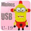 Hot sale U-19 Despicable Me 2 Minions 3D Cartoon USB cartoon characters bulk 256MB 4GB 8GB 16GB 32GB 64GB usb flash drives