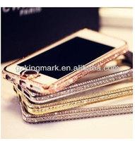 Luxury Diamond Bumper For Samsung galaxy s4 i9500 Diamond Crystal Bling Aluminum for samsung Bumper Case