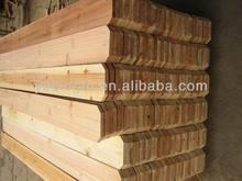chinese cedar dog eared wood fencing
