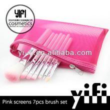 Professional distributor!Pink screen 7 pcs brush set make up brush set