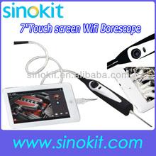 Handheld USB Video Inspection WIFI Borescope Endoscope 830mm Flexible Tube 7mm Waterproof Camera