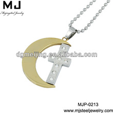 Cross And Alphabets Designed Pendant MJP-0213