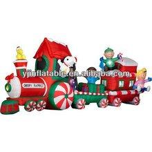14 ft elegent decor inflatable christmas gift +inftable Chrtistmas train