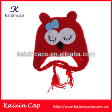 Patchwork Color Winter Knitted Children Beanie/children hat wholesale custom acrylic child beanie hat