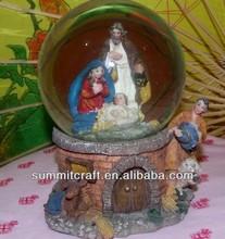 The birth of Jesus glass globe catholic religious items