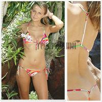 Rhinestone Micro Bikini Top & Rhinestone G-String