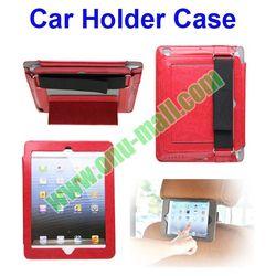 Car Holder PU Leather Case for iPad 5/ 4/ 3/ 2 with Bandage