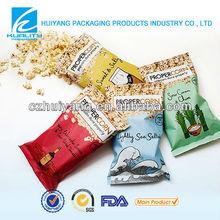 Lovely design plastic food bag for popcorn