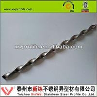 AISI 304 3604L 316 316L twisted steel square bar