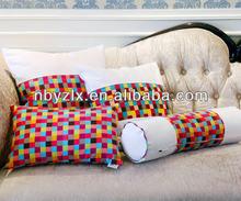 100% cotton 4pcs mosaic sofa pillow set / throw pillow set / back cushion