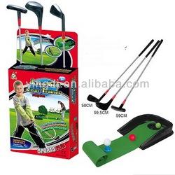simulation golf clubs irons set golf putting mat