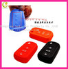 Smooth surface Silicone car key cover for kia key cover,durable shockproof silicone car key covers with many colors chosed