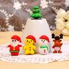 custom plastic mini plastic christmas figurine