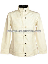 long sleeve stand collar button down korean style coat jacket